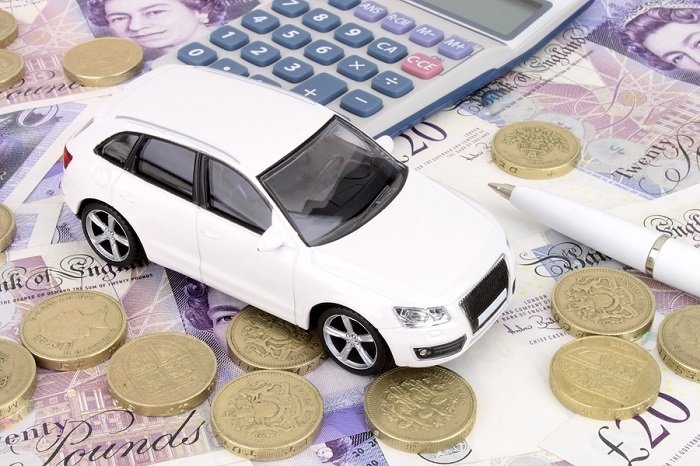 White car on money