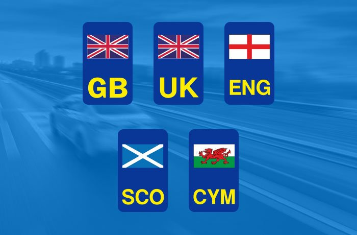 UK number plate flags