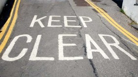Keep clear road markings