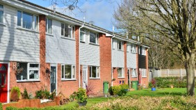 A picture of a row of council houses
