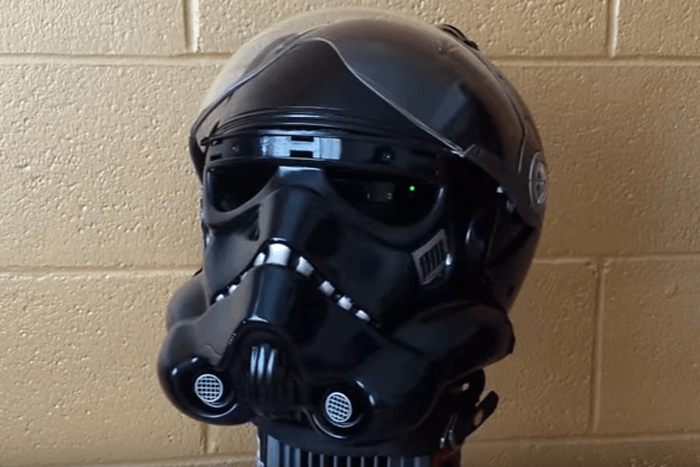 Star Wars Shadow Trooper motorbike helmet