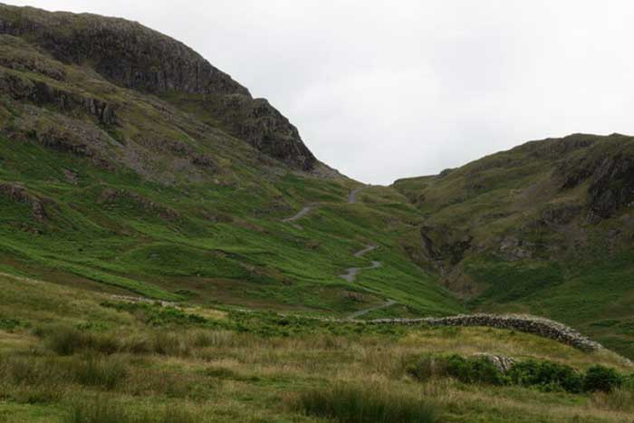 Hardknott Pass in the Lake District