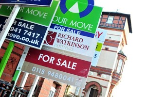 Moving signs outside houses