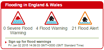 Flooding in England and Wales