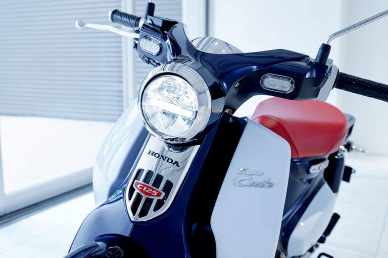 A close up shot of the Honda Supercub