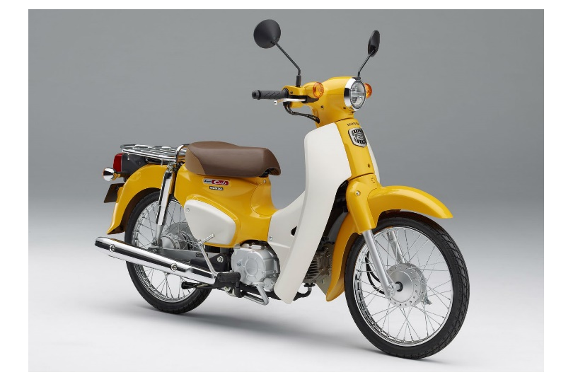 Image of a yellow Supercub