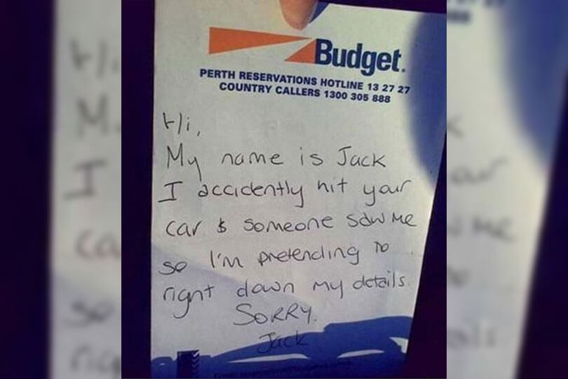 13 hilarious notes left on cars - Confused com