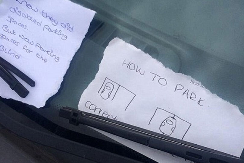 13 Hilarious Notes Left On Cars Confused Com