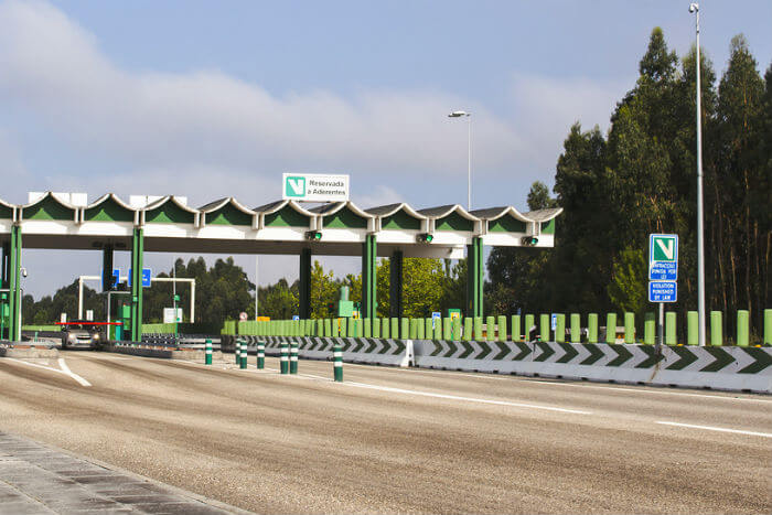 Toll road in Portugal