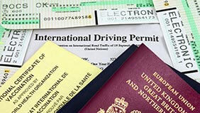 A British passport and International Driving Permit