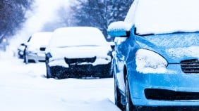 cars parked in snow