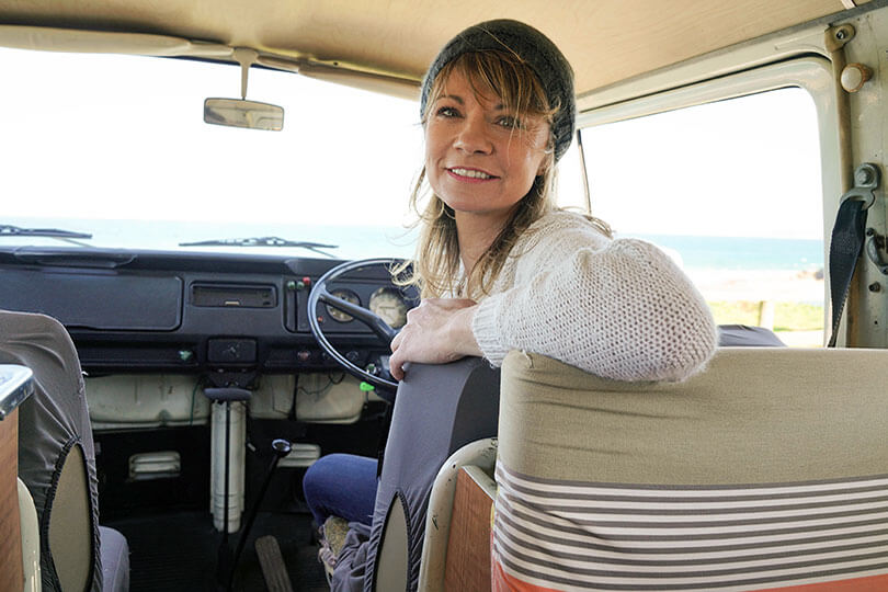 Female van driver
