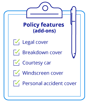 A list of car insurance policy features